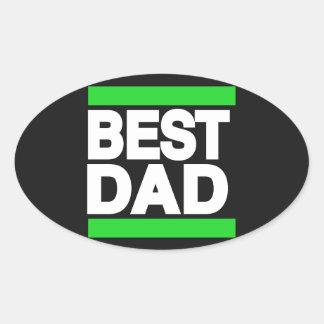 El mejor verde del papá pegatina ovalada