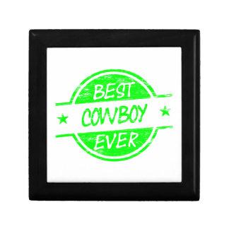 El mejor verde del vaquero nunca caja de joyas