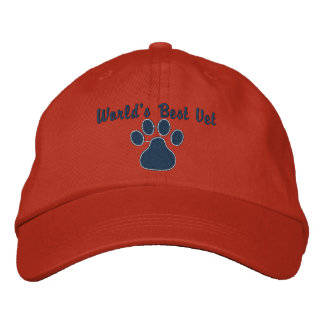 El mejor veterinario del mundo con la impresión de gorra de beisbol bordada