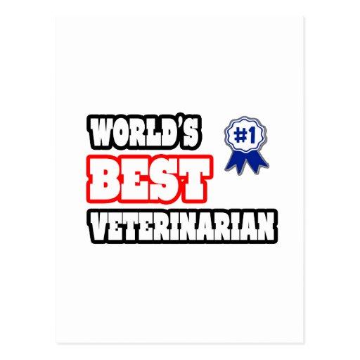 El mejor veterinario del mundo tarjetas postales