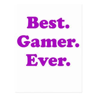 El mejor videojugador nunca tarjeta postal
