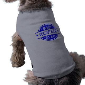 El mejor voluntario siempre azul camisetas mascota