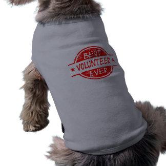 El mejor voluntario siempre rojo camisa de perro