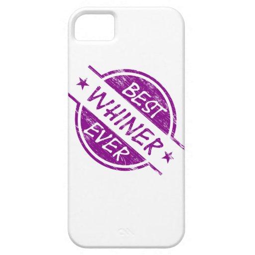 El mejor Whiner siempre púrpura iPhone 5 Fundas