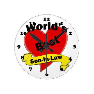 El mejor yerno del mundo reloj redondo mediano