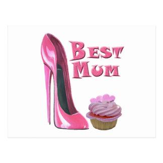 El mejor zapato del estilete del rosa de la momia postal
