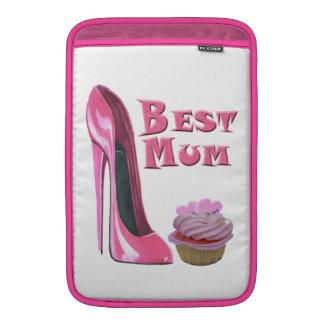 El mejor zapato y corazones rosados Cupcak del est Funda Macbook Air