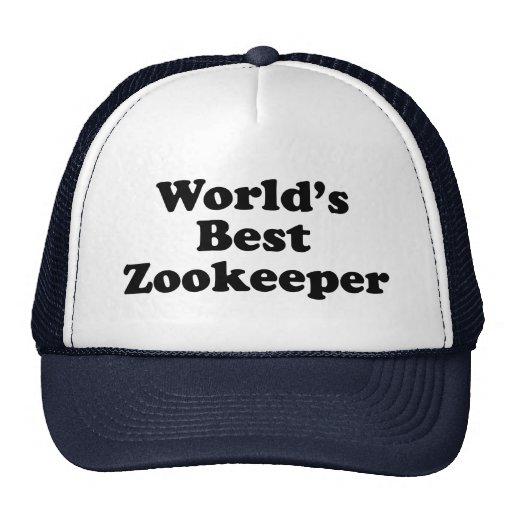 El mejor Zookeeper del mundo Gorras