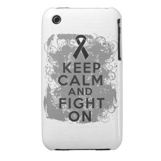 El melanoma guarda calma y sigue luchando iPhone 3 Case-Mate coberturas