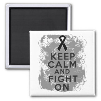 El melanoma guarda calma y sigue luchando imán cuadrado