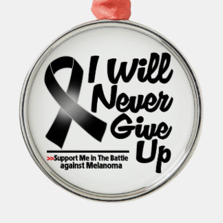 El melanoma I nunca dará para arriba Ornamento De Navidad