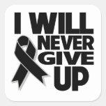 El melanoma I nunca dará para arriba Pegatinas Cuadradases