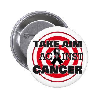 El melanoma toma objetivo contra cáncer pins