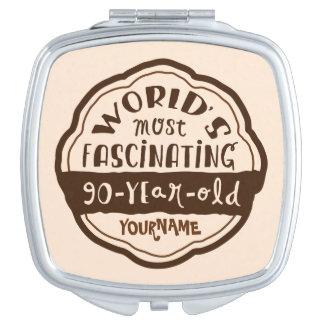 El melocotón de 90 años más fascinador de Brown Espejos Maquillaje