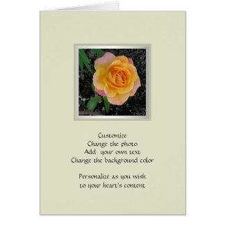 El melocotón del ~ de las flores del ~ del hogar y tarjeta de felicitación