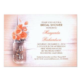 el melocotón elegante florece la ducha nupcial del