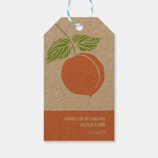 El melocotón le agradece etiqueta del regalo, etiquetas para regalos