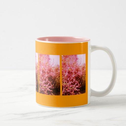 El melocotón rosado alterado florece taza