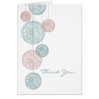 El melocotón y los globos azules de la guita le ag tarjeta de felicitación