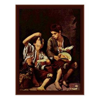 El Melonenesser por Esteban Murillo, Bartolomé Tarjetas Postales