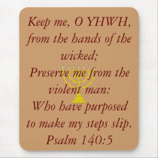 el menorah [1], me guarda, O YHWH, de las manos Mousepads