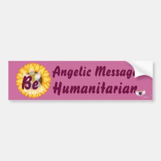 ¡El mensaje angelical sea humanitario! - Personali Pegatina Para Auto