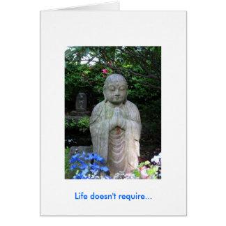 El mensaje de la vida tarjeta pequeña