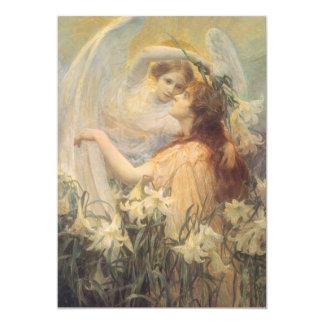 """El mensaje del ángel del arte del Victorian del Invitación 5"""" X 7"""""""