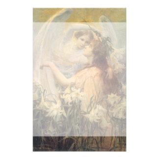 El mensaje del ángel del arte del Victorian del Papeleria De Diseño
