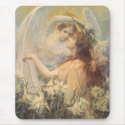 El mensaje del ángel del arte del Victorian del Tapetes De Ratones