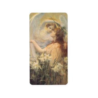 El mensaje del ángel, Swinstead, arte del Etiqueta De Dirección