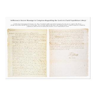 El mensaje secreto de Jefferson al congreso Impresión En Lona
