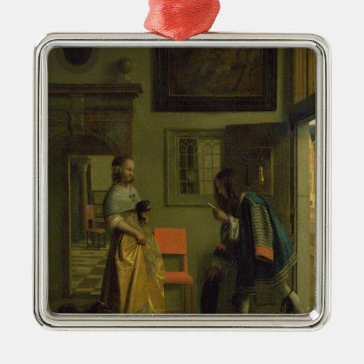 El mensajero, c.1669 ornamento de navidad