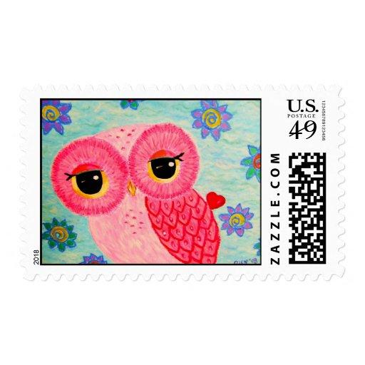 El mensajero del amor sello postal