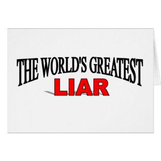 El mentiroso más grande del mundo felicitacion