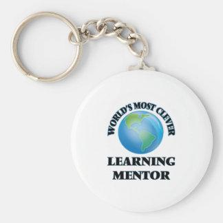 El mentor de aprendizaje más listo del mundo llaveros personalizados
