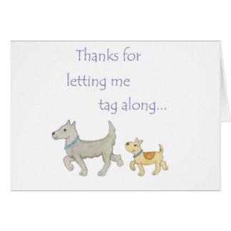 El mentor le agradece cardar tarjeta de felicitación