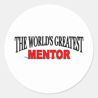 El mentor más grande del mundo etiqueta redonda