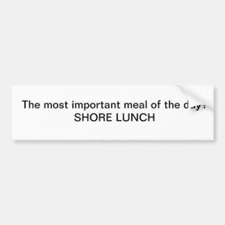 ¿El menú del día más importante?  Almuerzo de la o Pegatina Para Auto