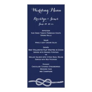 El menú náutico del boda de los azules marinos tarjeta publicitaria personalizada