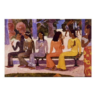 El mercado de Eugène Enrique Paul Gauguin Posters