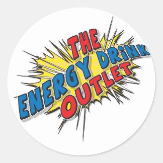 El mercado de la bebida de la energía - pegatina