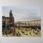 El mercado de la flor, 1832 póster