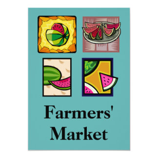 El mercado de los granjeros invitacion personalizada