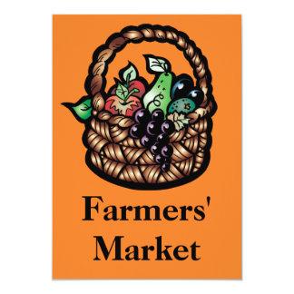 El mercado de los granjeros invitaciones personalizada