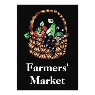 El mercado de los granjeros invitación personalizada