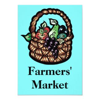 """El mercado de los granjeros invitación 5"""" x 7"""""""