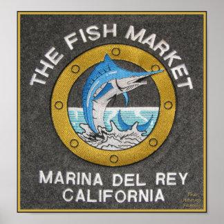 El mercado de pescados - Marina Del Rey, CA Impresiones