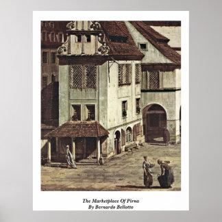 El mercado de Pirna de Bernardo Bellotto Posters