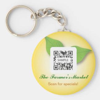El mercado del granjero de la plantilla del llaver llaveros personalizados
